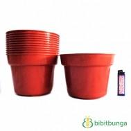 Pot Plastik Cokelat Ø 17 cm – 12 Pcs