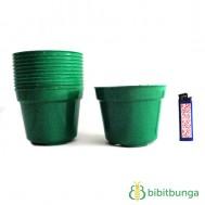 Pot Plastik Hijau Ø 12 cm – 12 Pcs