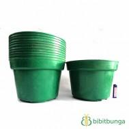 Pot Plastik Hijau Ø 30 cm – 12 Pcs