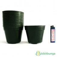 Pot Plastik Hitam Ø 10 cm – 12 Pcs