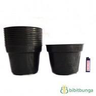 Pot Plastik Hitam Ø 20 cm – 12 Pcs