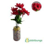 Bunga Plastik Aster Bangkok Red