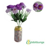 Bunga Plastik Aster Mini Double Purple