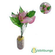 Bunga Plastik Calla Lily Pink Doll