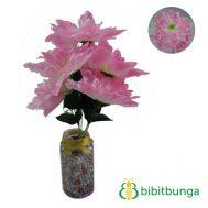 Bunga Plastik Dahlia Bangkok Gerigi Light Pink