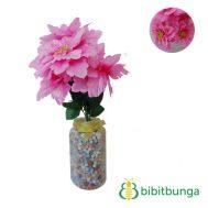 Bunga Plastik Dahlia Bangkok Gerigi Shocking Pink