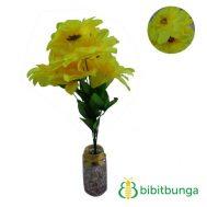Bunga Plastik Dahlia Bangkok Metalik Kuning