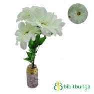 Bunga Plastik Dahlia Bangkok Metalik Light Green