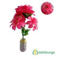 Bunga Plastik Dahlia Bangkok Metalik Pink