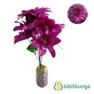 Bunga Plastik Dahlia Bangkok Metalik Ungu