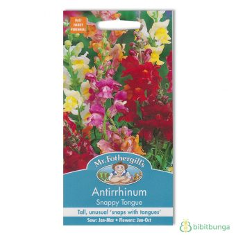 Benih Antirrhinum Snappy Tongue 1000 Biji – Mr Fothergills