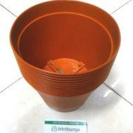 Pot Bunga Vanda 1750 Merah Bata – 12 Pcs