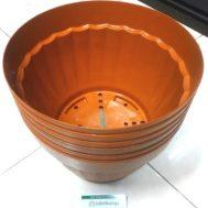Pot Bunga Vanda 3000 Merah Bata – 6 Pcs