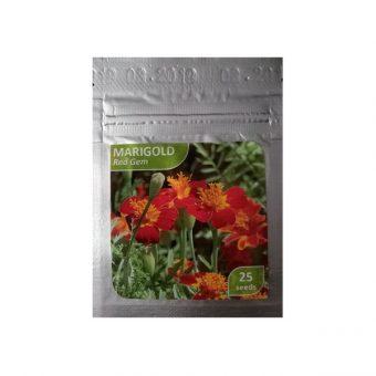 Benih Marigold Red Gem 25 Biji – Kemasan Foil