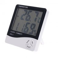 Digital Thermometer Hygrometer With Clock – HTC-1