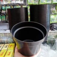 Pot Bunga / Tanaman Hitam 15 Cm