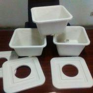 Ember Dutch Bucket Kotak – Putih