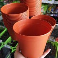 Pot Bunga / Tanaman Coklat 17 cm