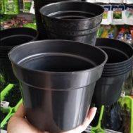 Pot Bunga / Tanaman Hitam 17 cm